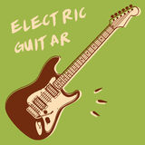 elektrisk gitarr Arkivfoto