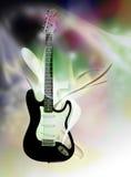 elektrisk gitarr för abstrakt bakgrund över Fotografering för Bildbyråer