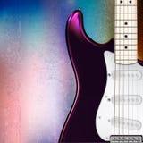 Elektrisk gitarr för abstrakt musikalisk bakgrund Fotografering för Bildbyråer