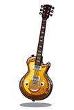 Elektrisk gitarr för tecknad film Arkivfoto