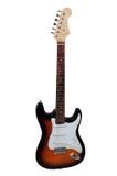 elektrisk gitarr isolerad white Arkivbild