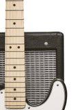 Elektrisk gitarr och förstärkare Arkivfoto