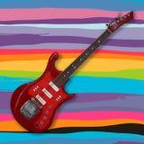 Elektrisk gitarr på en abstrakt bakgrund Royaltyfri Fotografi