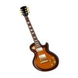 Elektrisk gitarr på en vit Royaltyfria Bilder
