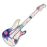 elektrisk gitarrtappning Royaltyfri Fotografi