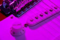 elektrisk gitarrvolym fotografering för bildbyråer