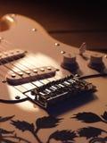 elektrisk gitarrwhite Royaltyfri Foto