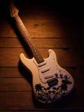 elektrisk gitarrwhite Royaltyfria Foton