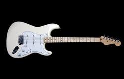 elektrisk gitarrwhite Royaltyfri Fotografi