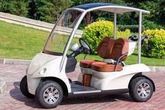 Elektrisk golfvagn Arkivbild
