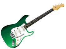 elektrisk grön gitarr royaltyfri illustrationer