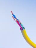 elektrisk hög linje fassiktsspänning för 3 kabel Fotografering för Bildbyråer