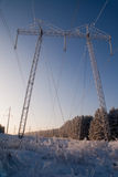 elektrisk hög linje strömpylonspänning Royaltyfri Fotografi