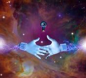 Elektrisk handshaking royaltyfri illustrationer