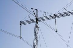 elektrisk hydro lines ström fotografering för bildbyråer