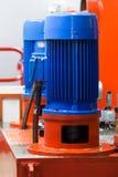 elektrisk industriell motor Arkivbilder