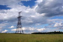 elektrisk infrastruktur arkivbild