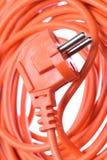 Elektrisk kabel med proppen arkivfoto