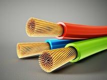 Elektrisk kabel vektor illustrationer