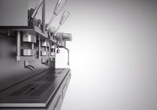 Elektrisk kaffemaskin för yrkesmässig metall Royaltyfria Bilder