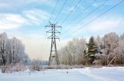 Elektrisk kraftledning Arkivfoto