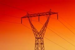 elektrisk kraftledning Fotografering för Bildbyråer