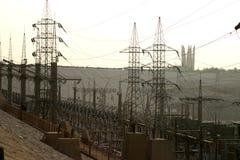 Elektrisk kraftverk Royaltyfri Fotografi