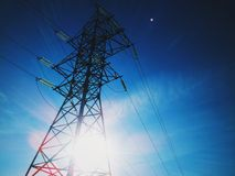 elektrisk kyiv lines ström ukraine Arkivfoto
