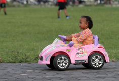 Elektrisk leksakbil Royaltyfri Bild