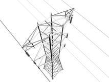 elektrisk linje överföring Arkivfoton