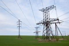 elektrisk linje överföring Arkivbilder