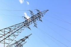 elektrisk linje överföring Arkivbild