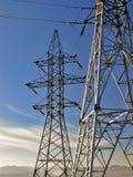 elektrisk linje ström Arkivbild