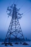 elektrisk linje strömtorn Royaltyfria Foton