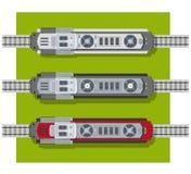 Elektrisk lokomotiv av järnvägar royaltyfri illustrationer