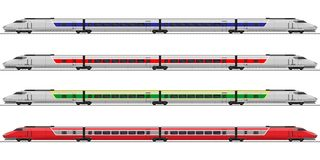 Elektrisk lokomotiv Järnväg vagn Arkivbild