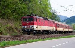 Elektrisk lokomotiv 162 005-3 - slovakiska järnvägar Arkivbilder
