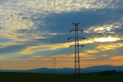 Elektrisk mast Arkivbilder
