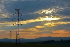 Elektrisk mast Royaltyfria Bilder