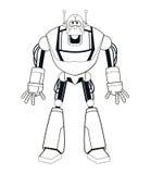 Elektrisk mekanisk tunn linje för robot stock illustrationer