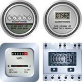 Elektrisk meter Arkivbilder