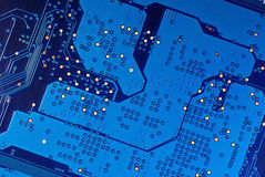 elektrisk microcircuit Arkivfoton