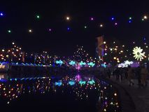 elektrisk natt Royaltyfria Bilder