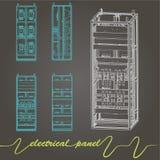 Elektrisk panel Arkivbilder