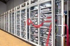 elektrisk panel för brädekonstruktion royaltyfri bild