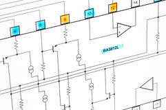elektrisk plan arkivfoto