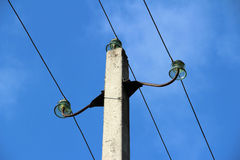 Elektrisk pol Arkivfoto