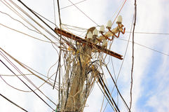 elektrisk pol royaltyfri foto