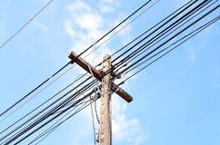 elektrisk pol Arkivbild