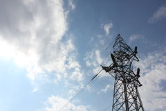 elektrisk pol Arkivbilder